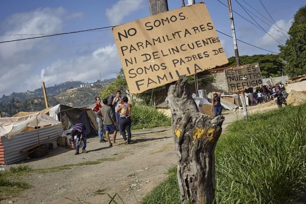 Rechazaron que en la comunidad vivieran paramilitares. Cristian Hernández/Crónica Uno
