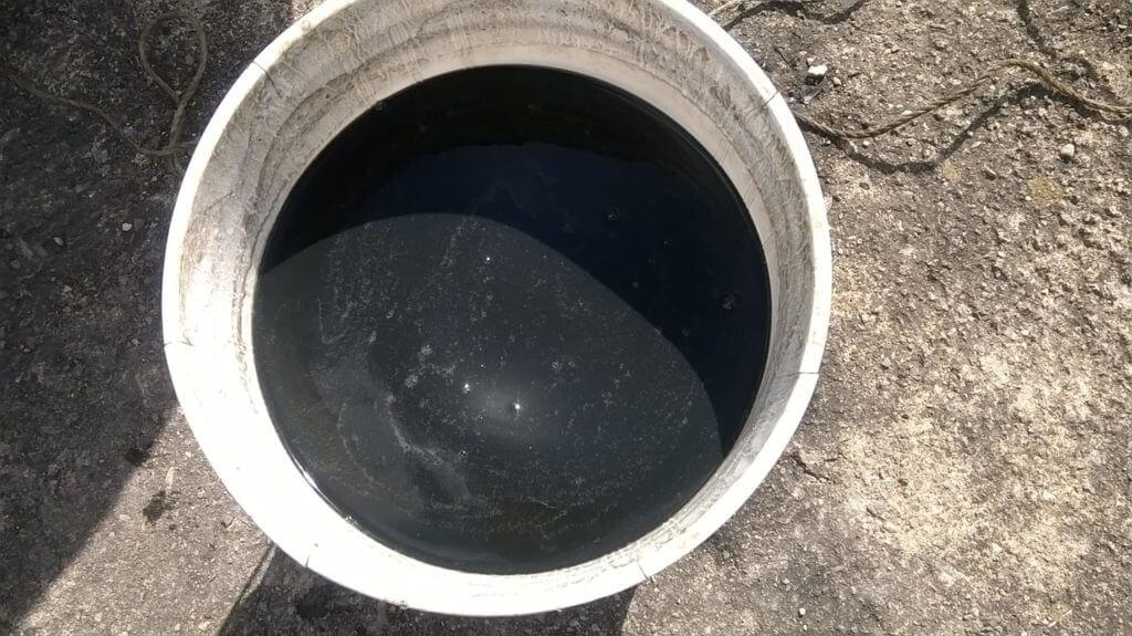 Agua contaminada en Coche. Foto: Cortesía.