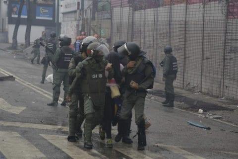 represión en protestas