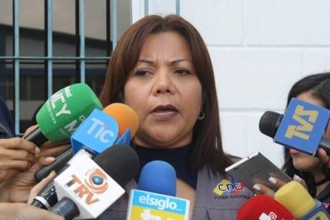 Neira López, directora regional CNE, Aragua