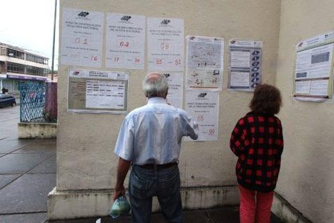 Centro de votación. San Cristóbal. Táchira.