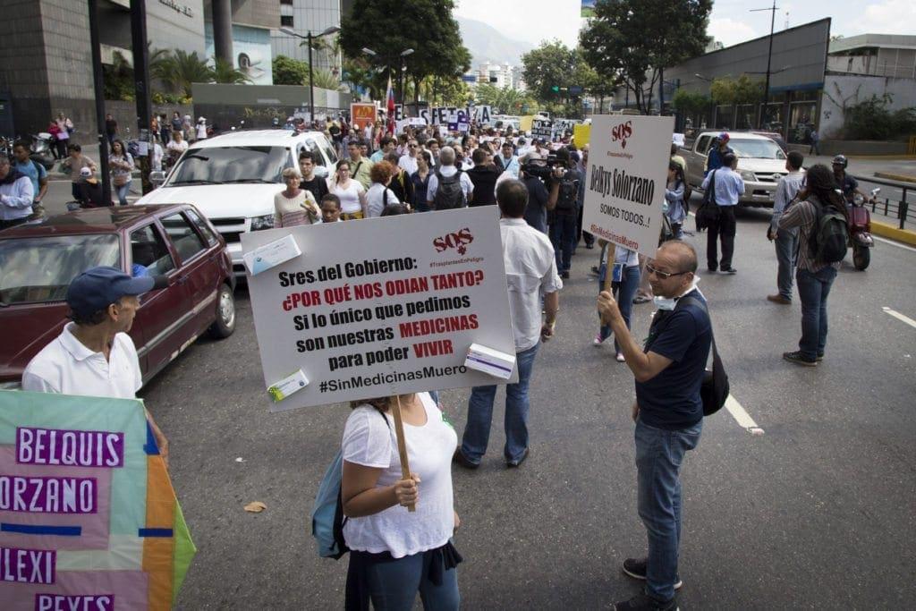 Marcha Pacientes cronicos, Chacao