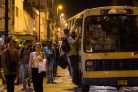Colapso de transporte publico San Martin, Capitolio, Capuchinos | transportistas