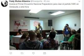 reunión farc venezuela