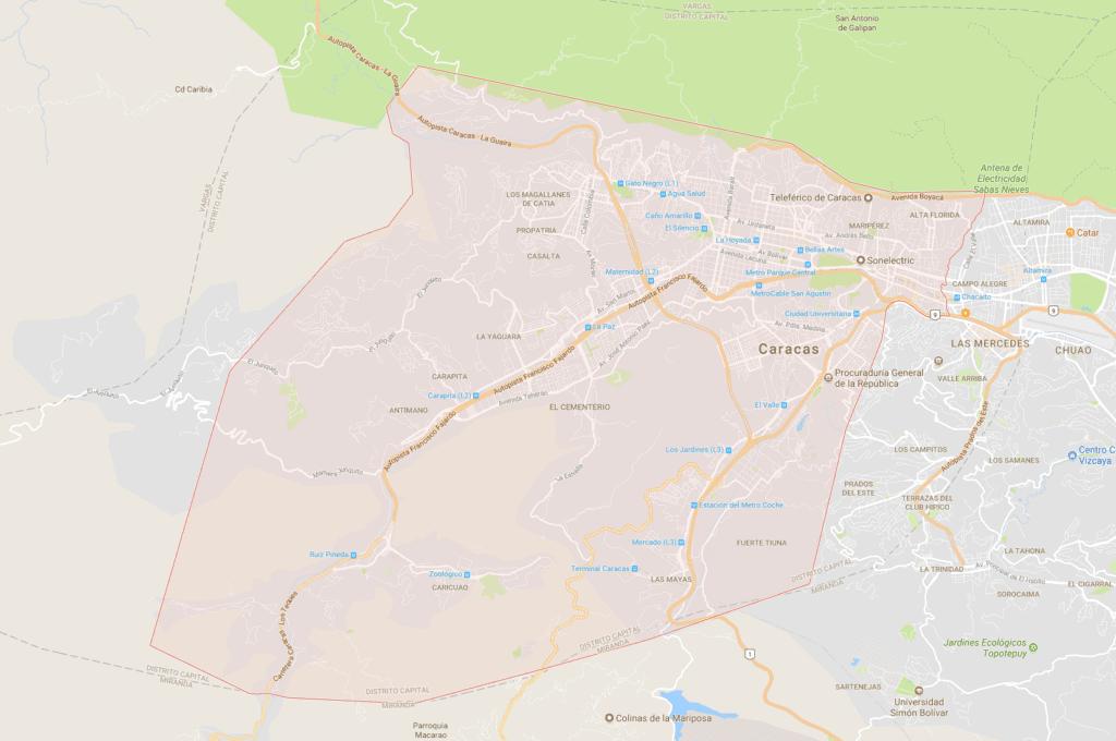 Mapa municipio Libertador