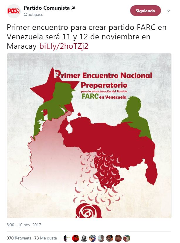 convocatoria partido comunista FARC