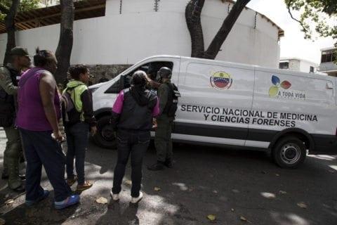 Oscar Perez morgue, furgoneta