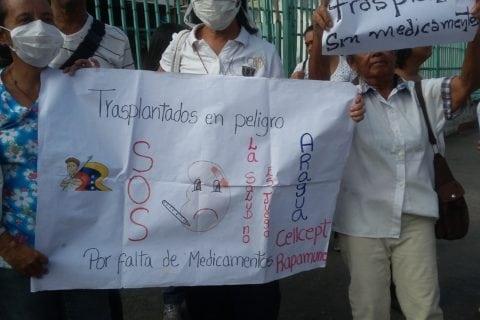 120 trasplantados en Aragua corren riesgo de morir