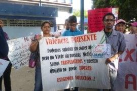 Protesta Pacientes Trasplantados