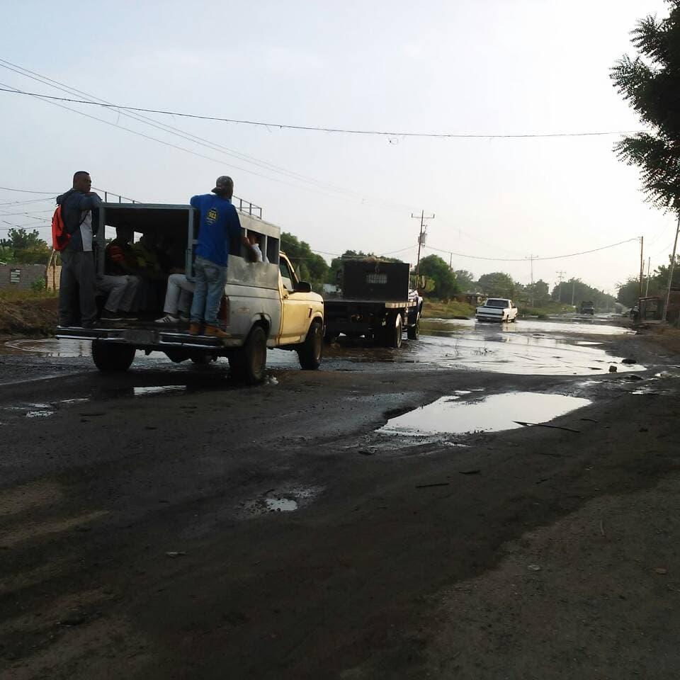 Huecos en San Isidro