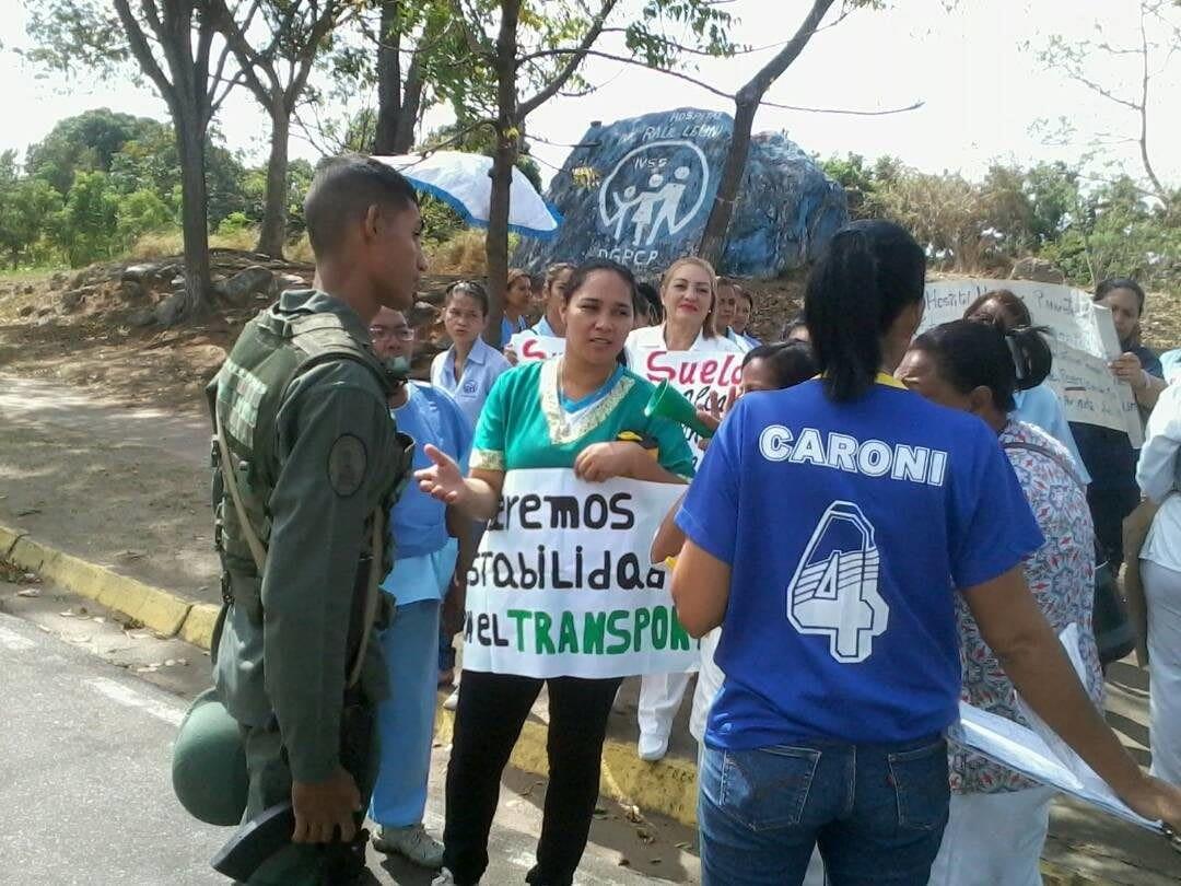 Enfermeras Guayana protesta