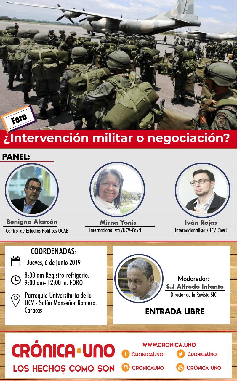 Foro-intervención-militar-negociación -crónica-uno