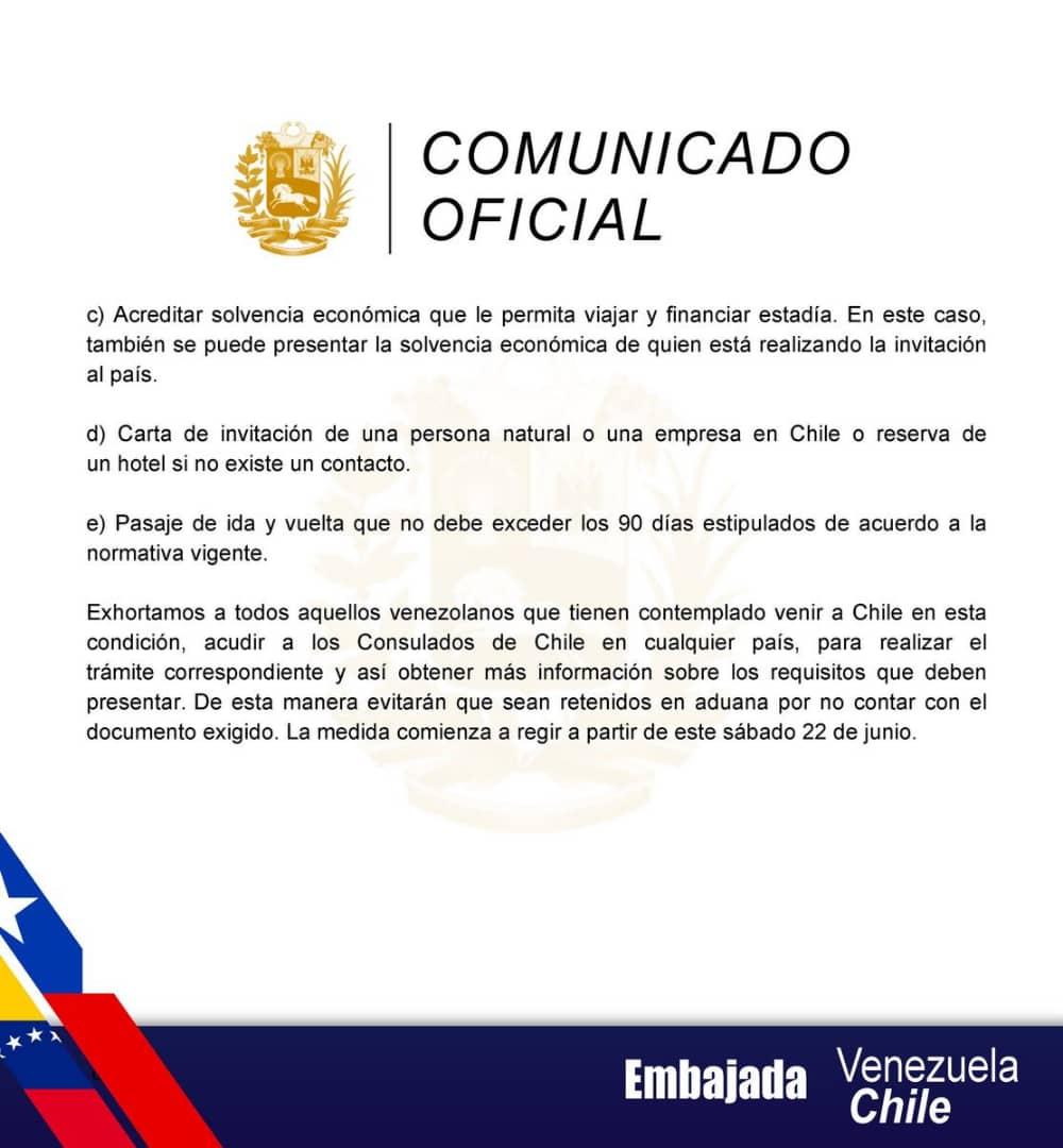 Comunicado embajada