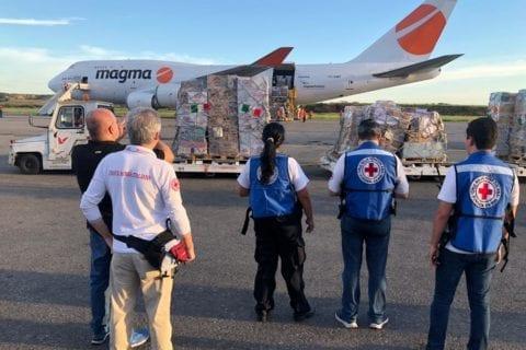 ayuda humanitaria aterriza en venezuela