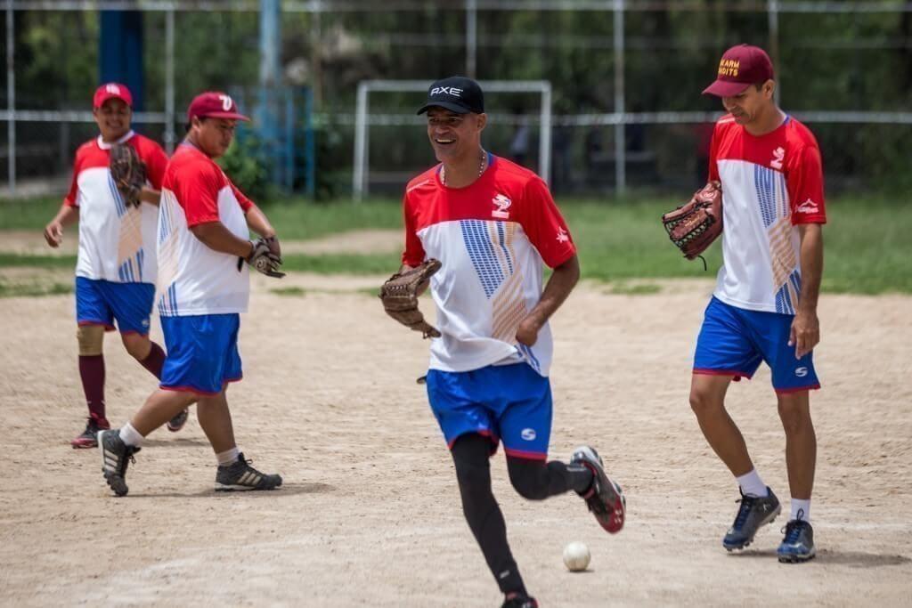 Entrenamiento del equipo de Venezuela de softbol con discapacidad en Caricuao. Cristian Hernández/Crónica Uno