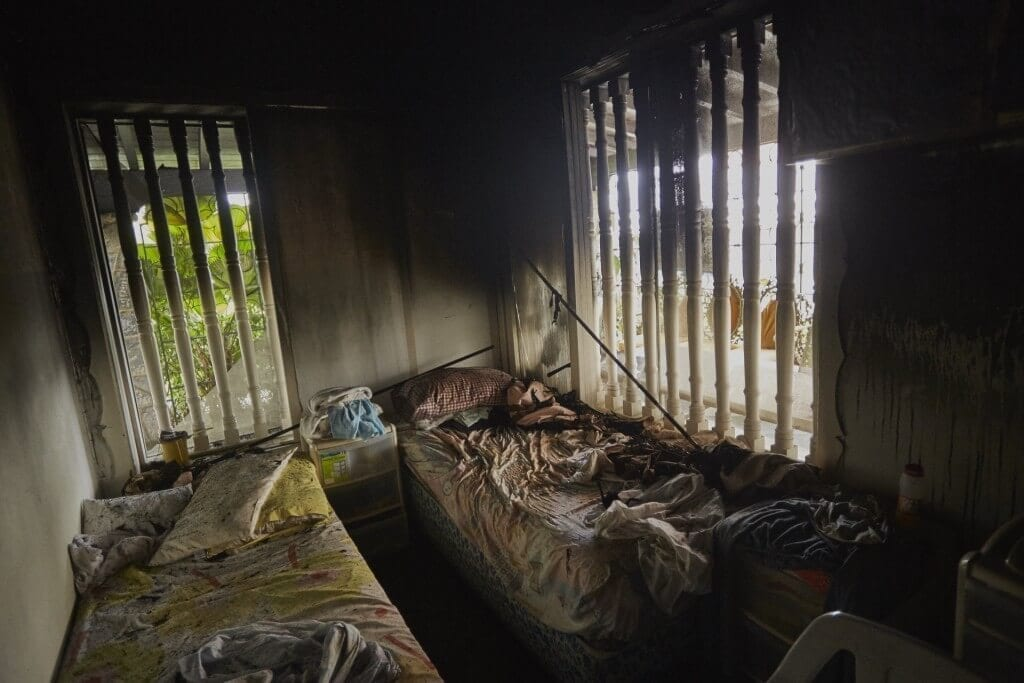 Ocho abuelos falleceieron en un incendio en la noche de este domingo 23 de Agosto en el geriátrico Chivacoa, en Chacao. Cristian Hernández/CU