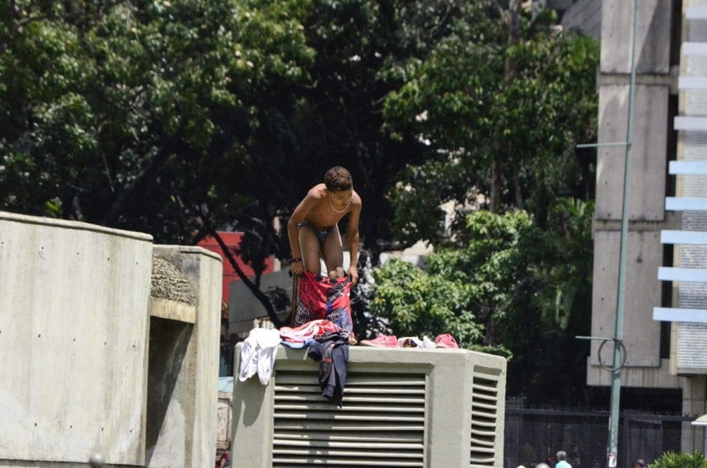 Niños, Plaza Venezuela, Libertador, Agua, aseo personal, Salud