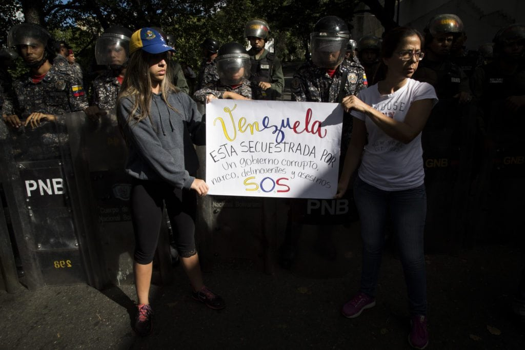 Protesta morgue Oscar Perez.