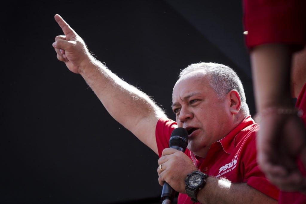 Marcha oficialista 23 de enero. Diosdado Cabello.