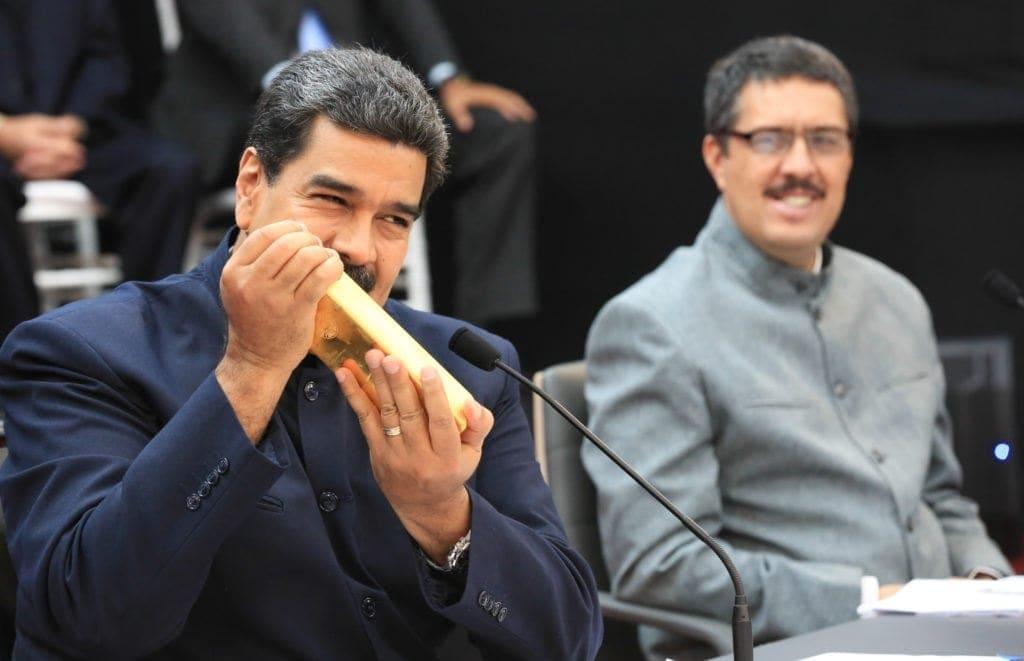 Maduro lingotes de oro