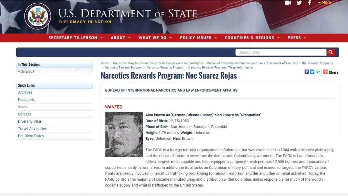 """Colombia exige a Maduro dar información y entregar al guerrillero """"Granobles"""""""