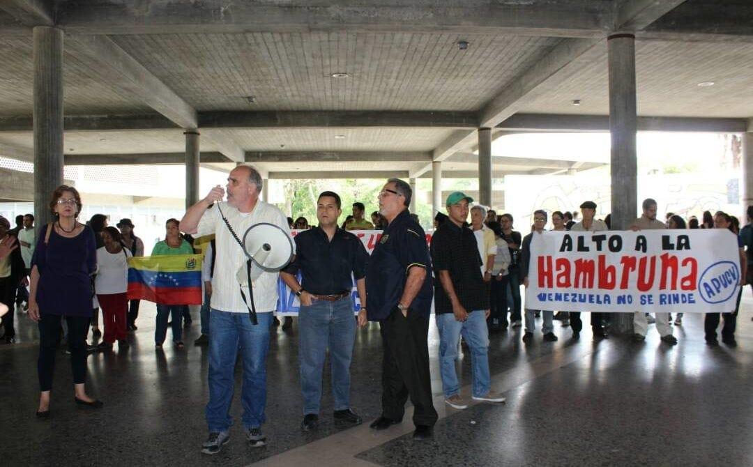 Trabajadores universitarios-protesta profesores de la ucv