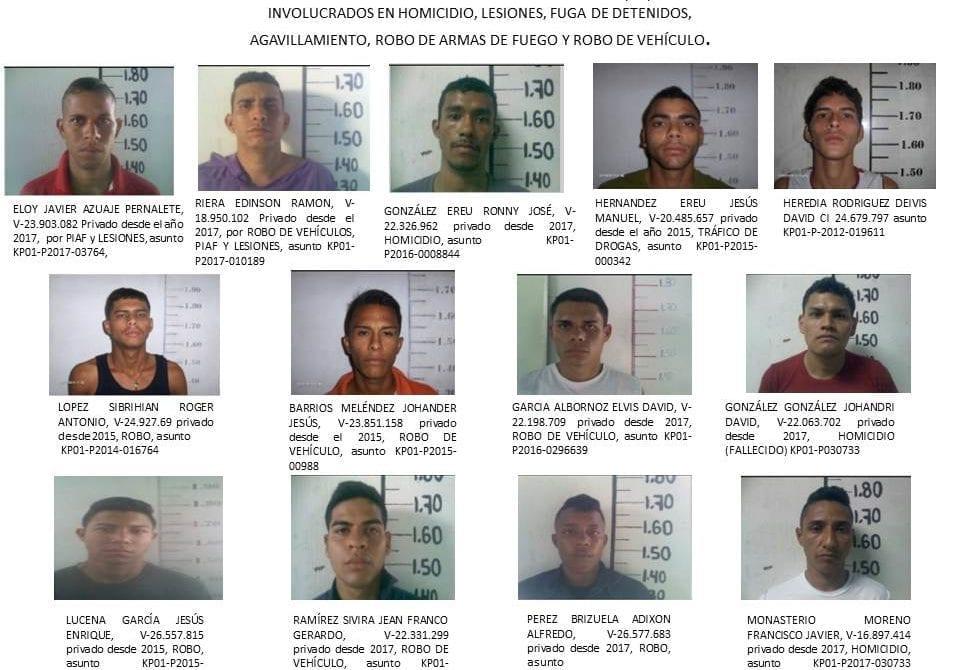 Detenidos fugados de la comisaría de Polilara