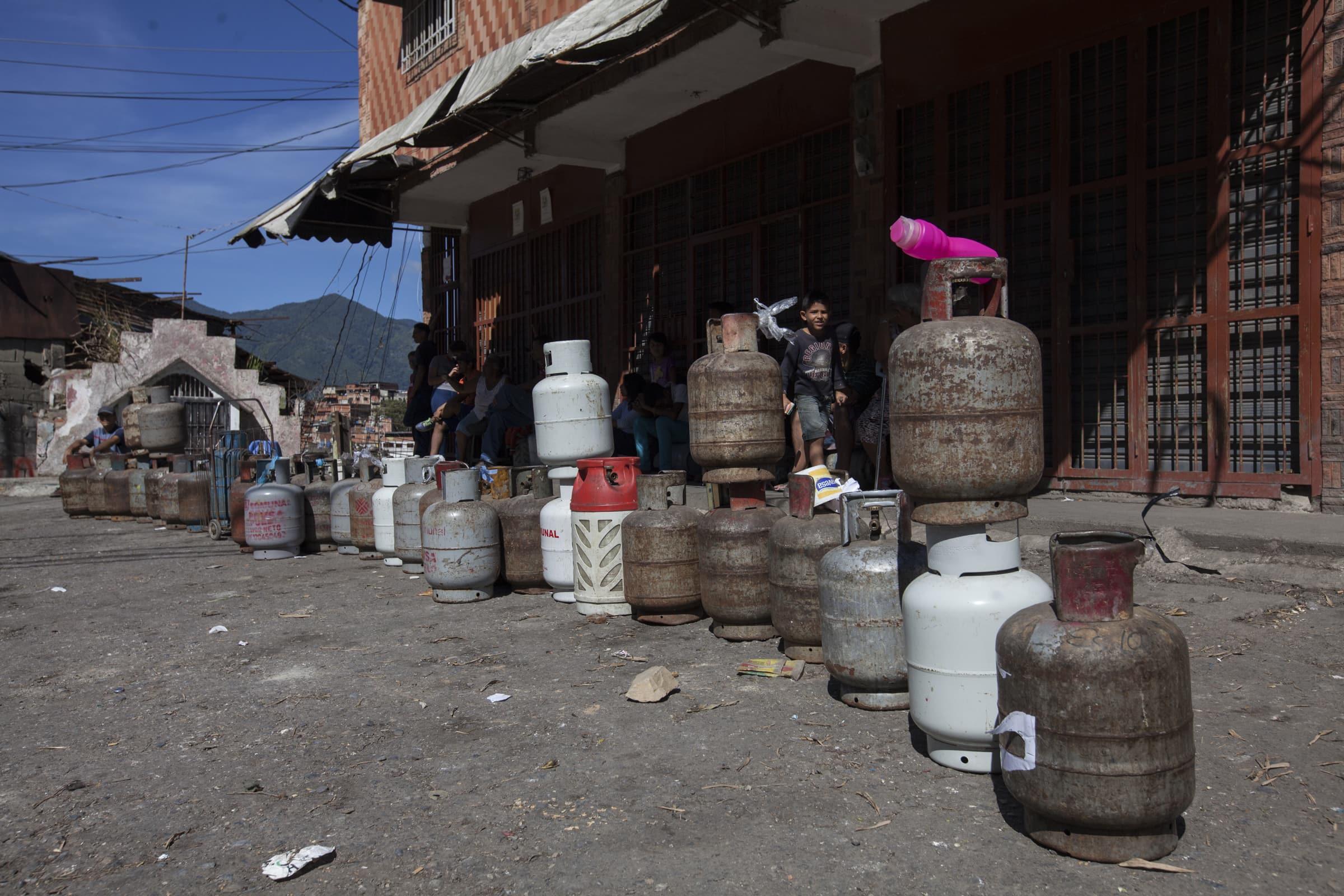 Caracas sin gas