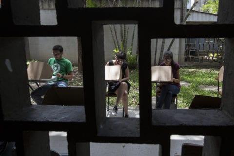 Estudiantes de la UCV